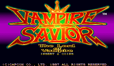 Vampire Savior: The Lord of Vampire (Euro 970519 Phoenix Edition) (bootleg) Title Screen