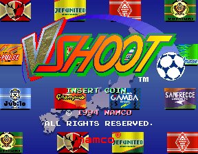 J-League Soccer V-Shoot (Japan) Title Screen