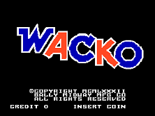Wacko Title Screen