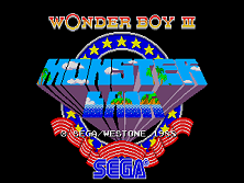 Wonder Boy III - Monster Lair (set 6, World, System 16B) (8751 317-0098) Title Screen