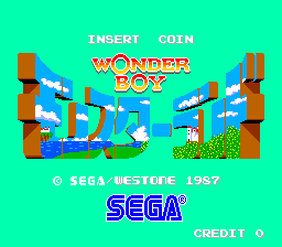Wonder Boy in Monster Land (Japan New Ver., MC-8123, 317-0043) Title Screen