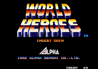 World Heroes (ALH-005) Title Screen