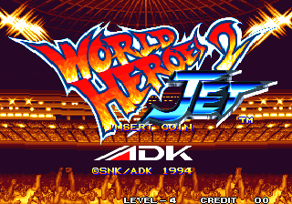 World Heroes 2 Jet (Set 2) Title Screen