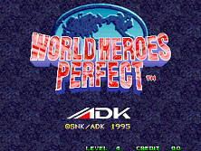 World Heroes Perfect Title Screen