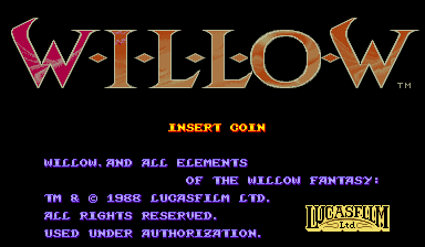 Willow (US) Title Screen