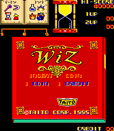 Wiz (Taito, set 2) Title Screen