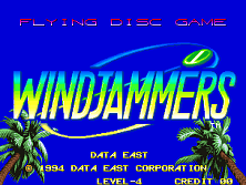 Windjammers / Flying Power Disc Title Screen
