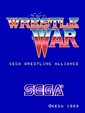 Wrestle War (set 3, World) (8751 317-0103) Title Screen