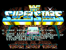 WWF Superstars (Europe) Title Screen
