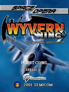Wyvern Wings (set 1) Title Screen