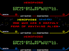 Xenophobe Title Screen