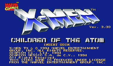 X-Men: Children of the Atom (Hispanic 950105) Title Screen
