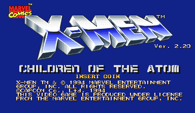 X-Men: Children of the Atom (Japan 941222) Title Screen