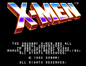 X-Men (4 Players ver JBA) Title Screen