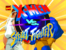 X-Men Vs. Street Fighter (Euro 961004) Title Screen