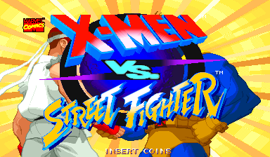 X-Men Vs. Street Fighter (USA 961004 Phoenix Edition) (Bootleg) Title Screen