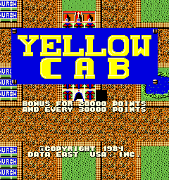 Yellow Cab (bootleg) Title Screen