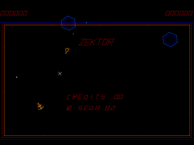 Zektor (revision B) Title Screen