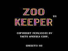 Zoo Keeper (set 1) Title Screen