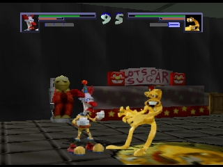 Clay Fighter 63 1-3 (USA) In game screenshot