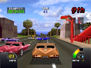 Cruis'n USA (Europe) In game screenshot