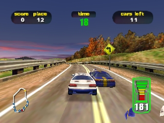 Destruction Derby 64 (Europe) (En,Fr,De) In game screenshot