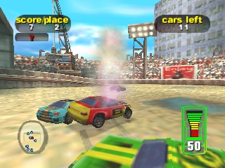 Destruction Derby 64 (USA) In game screenshot