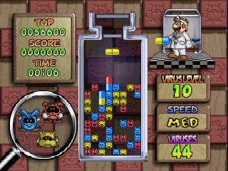 Dr. Mario 64 (USA) In game screenshot