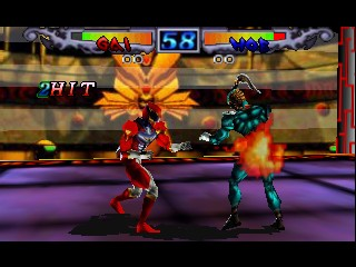 Dual Heroes (Europe) In game screenshot
