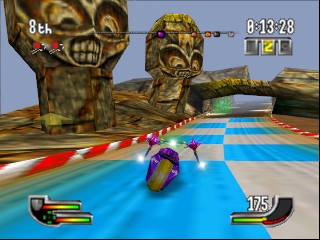 Extreme-G (USA) In game screenshot