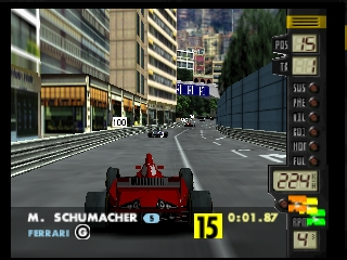 F-1 World Grand Prix (France) In game screenshot