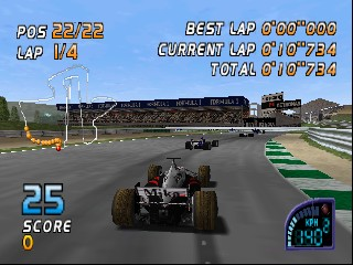 F1 Racing Championship (Europe) (En,Fr,De,Es,It) In game screenshot