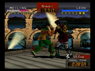 Fighters Destiny (USA) In game screenshot