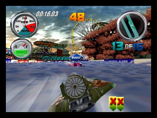 Hydro Thunder (USA) In game screenshot