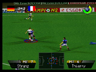 International Superstar Soccer 64 (Europe) In game screenshot