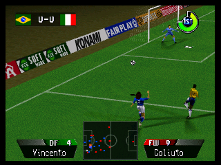 International Superstar Soccer 64 (USA) In game screenshot