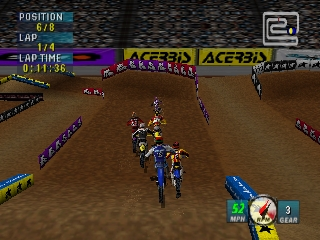 Jeremy McGrath Supercross 2000 (Europe) In game screenshot