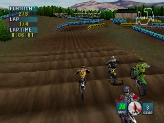 Jeremy McGrath Supercross 2000 (USA) In game screenshot