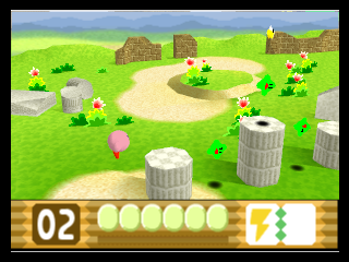 Kirby 64 - The Crystal Shards (USA) In game screenshot