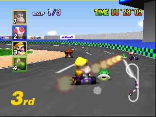 Mario Kart 64 (USA) In game screenshot