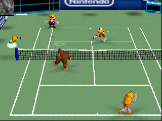 Mario Tennis (Europe) In game screenshot