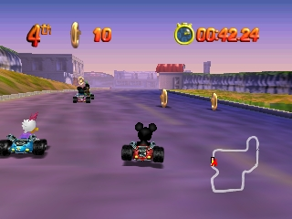 Mickey's Speedway USA (Europe) (En,Fr,De,Es,It) In game screenshot