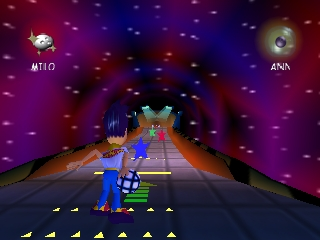 Milo's Astro Lanes (USA) In game screenshot