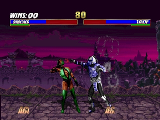 Mortal Kombat Trilogy (Europe) In game screenshot