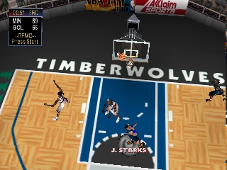 NBA Jam 2000 (Europe) In game screenshot