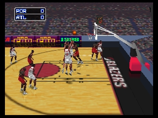 NBA Pro 98 (Europe) In game screenshot