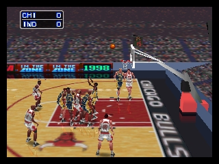 NBA in the Zone '98 (USA) In game screenshot