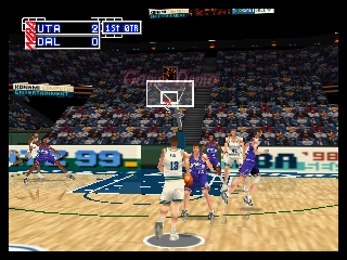 NBA in the Zone '99 (USA) In game screenshot