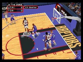 NBA in the Zone 2000 (Europe) In game screenshot
