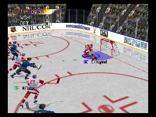 NHL Pro 99 (Europe) In game screenshot